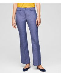 LOFT - Trousers In Tweed In Julie Fit - Lyst