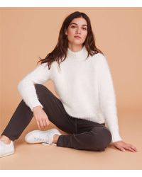 LOFT Lou & Gray Fuzzy Chenille Sweater - White