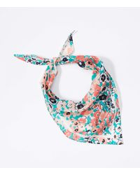 LOFT Floral Triangle Bandana - White