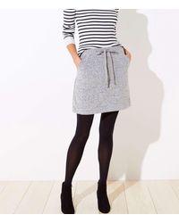 LOFT Brushed Knit Jogger Skirt - Multicolour