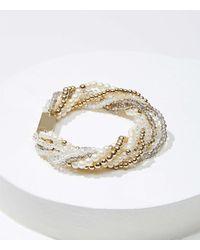LOFT Pearlized Multistrand Bracelet - Metallic