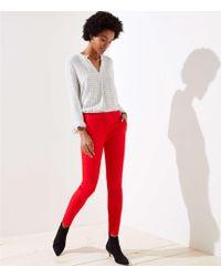 LOFT - Petite Skinny Split Waist Pants In Marisa Fit - Lyst