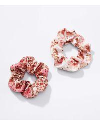LOFT Lou & Grey Wildflower Scrunchie Set - Red