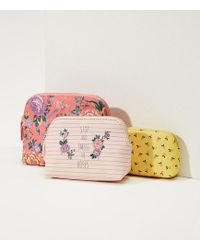 LOFT - Stop And Smell The Roses Pouch Trio - Lyst
