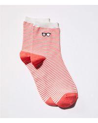 LOFT - Sunglasses Embroidered Ankle Socks - Lyst