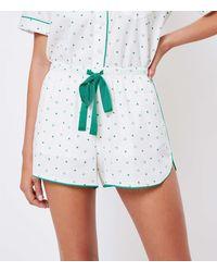 LOFT Lucky Pyjama Shorts - White
