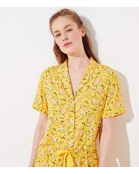 LOFT Buttercup Pajama Top - Yellow