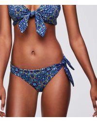 LOFT Beach Side Tie Hipster Bikini Bottom - Blue