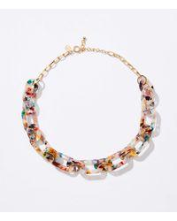 LOFT Resin Chain Link Necklace - Multicolour
