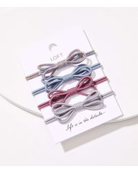 LOFT Bow Hair Tie Set - Blue