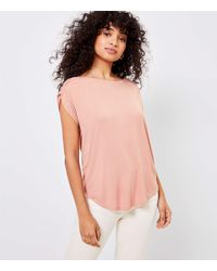LOFT - Cinched Sleeve Top - Lyst
