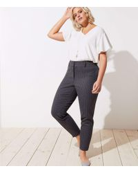 LOFT - Plus Skinny Pindot Pants - Lyst