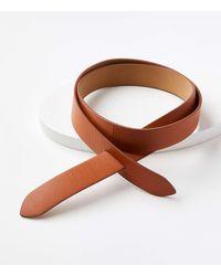 LOFT Leather Wrap Belt - Brown