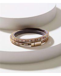 LOFT - Beaded Chain Wrap Bracelet - Lyst