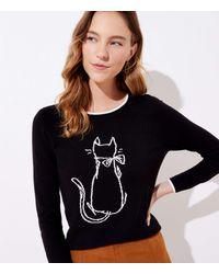 LOFT Luxe Knit Cat Jumper - Black