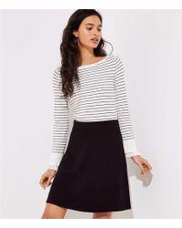 LOFT - Petite Ottoman Knit Flare Skirt - Lyst