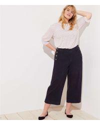 LOFT - Plus Sailor Wide Leg Crop Pants - Lyst