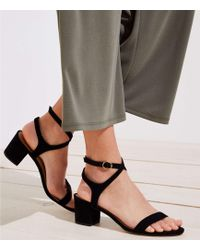 LOFT - Strappy Block Heel Sandals - Lyst