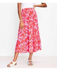 LOFT Petite Tropic Tiered Maxi Skirt