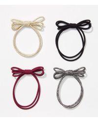 LOFT Bow Hair Tie Set - Metallic