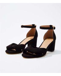 LOFT - Criss Cross Ankle Strap Sandals - Lyst