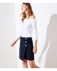 LOFT - Petite Button Wrap Skirt - Lyst