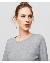 LOFT   Puff Sleeve Sweatshirt   Lyst