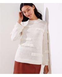 LOFT - Abstract Fringe Sweater - Lyst
