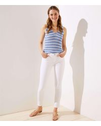 LOFT Slim Pocket Skinny Jeans In White