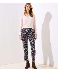 LOFT - Slim Floral Jacquard Pencil Pants In Julie Fit - Lyst