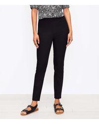LOFT Tall Side Zip Skinny Pants - Black