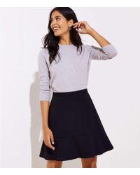 LOFT Ponte Flippy Skirt - Black