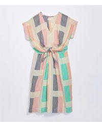 LOFT Lou & Grey Geo Tie Waist Pocket Midi Dress - Multicolour