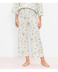 LOFT Floral Crop Pyjama Trousers - Multicolour