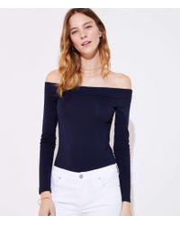 LOFT - Off The Shoulder Bodysuit - Lyst