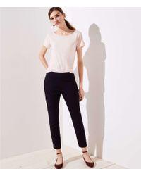 LOFT - Slit Cuff Skinny Ankle Trousers - Lyst