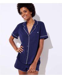 LOFT - Embroidered Pyjama Set - Lyst
