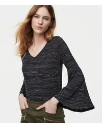 LOFT - Spacedye Bell Sleeve Top - Lyst