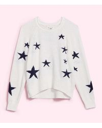 LOFT Lou & Grey Star Jumper - White