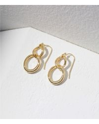LOFT - Interlocking Loop Drop Earrings - Lyst