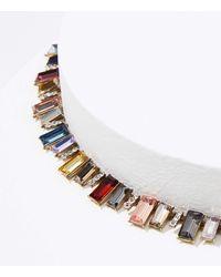 LOFT Rainbow Statement Necklace - Metallic