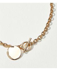 LOFT Chunky Chain Necklace - Metallic