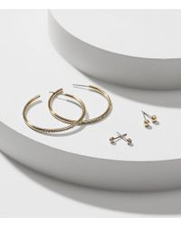 LOFT | Crystal Stone Stud Earring Set | Lyst