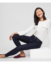 LOFT - Tall Modern Skinny Jeans In Dark Rinse Wash - Lyst