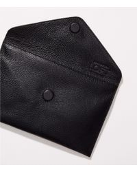 LOFT - Luxe Leather Envelope Clutch - Lyst