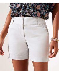 LOFT Curvy Riviera Shorts With 6 Inch Inseam - Grey