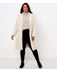 LOFT Plus Herringbone Coat - Natural