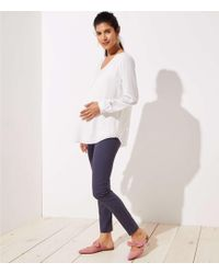 LOFT - Maternity Skinny Ankle Pants - Lyst