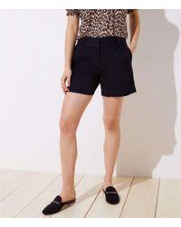 LOFT Curvy Riviera Shorts With 6 Inch Inseam - Black