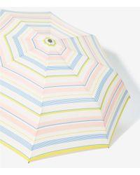 LOFT Mixed Stripe Umbrella - White